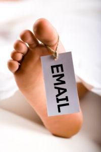 Email er død